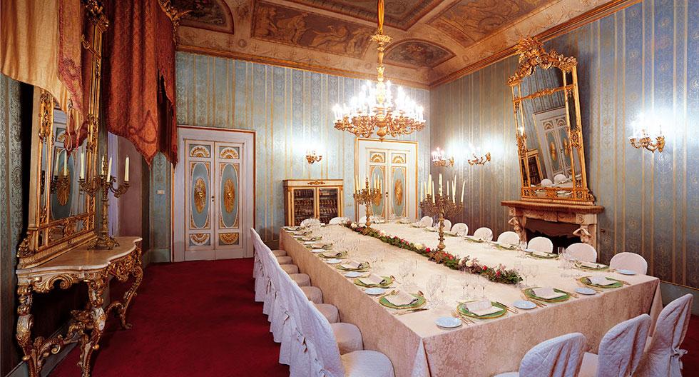 Salotto monumentale, salotto del consiglio, Palazzo Borghese, location per eventi a Firenze