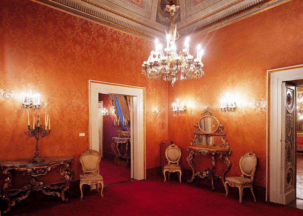 salotto monumentale rosa, Palazzo Borghese, location per eventi a Firenze