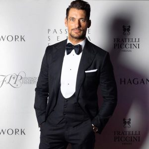 David Gandy model from Dolce&Gabbana the light blue at Palazzo Borghese Firenze