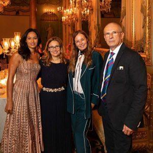 Rula Jabral, Nicoletta Mantovani; Eva Cavalli, Pippo Zeffirelli a Palazzo Borghese Firenze per uno speciale evento a Firenze
